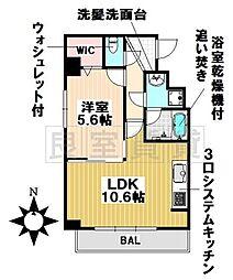 愛知県名古屋市千種区城木町2丁目の賃貸マンションの間取り