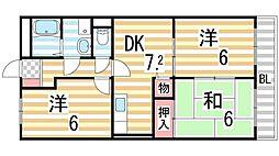 東野マンション[205号室]の間取り