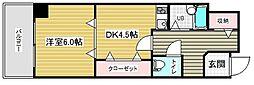 スタッツア神戸[11階]の間取り