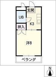 カーサ南栄[1階]の間取り