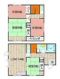 [一戸建] 福岡県北九州市小倉南区守恒4丁目 の賃貸【/】の間取り