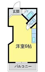 パレFUKUOKA3[303号室]の間取り