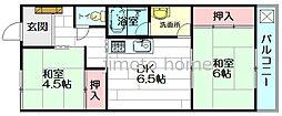 ハイツ寺庄[1階]の間取り