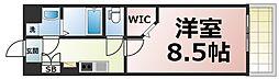 JPレジデンス大阪城東4 8階1Kの間取り