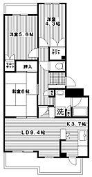 グレイスフル六ッ川[104号室]の間取り