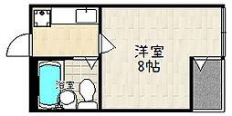 ビラ・アペックス京都竹田[405号室]の間取り