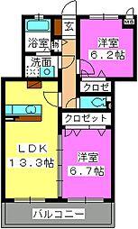 ステラパークサイド次郎丸[1階]の間取り