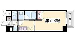 兵庫県神戸市兵庫区小河通2丁目の賃貸マンションの間取り