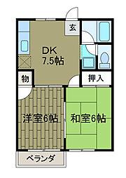 サニーハウスIII[2階]の間取り