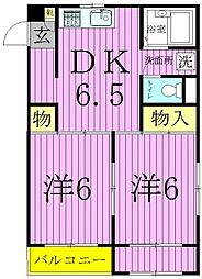 MKC西新井橋ハイツ[2階]の間取り
