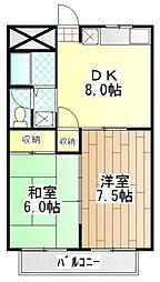 第1コートハイム国分[3階]の間取り