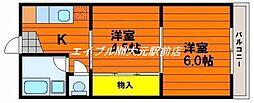 楓コーポ[1階]の間取り
