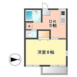 タウニー鹿田[2階]の間取り