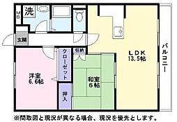 エスペランサ3[3階]の間取り