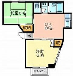 アークI[3階]の間取り