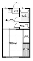 豊田第一平荘[2階]の間取り