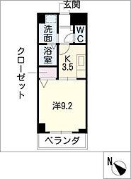 クレセール名駅[4階]の間取り
