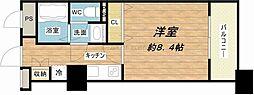 メゾン・ド・ヴィレ大阪城公園前[23階]の間取り