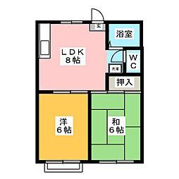 メゾン・ド・YUKI[2階]の間取り
