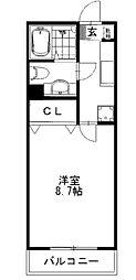 東京都日野市多摩平5丁目の賃貸アパートの間取り