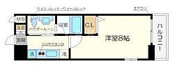 クリスタルグランツ北堀江[3階]の間取り