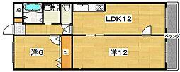 松田マンション[203号室]の間取り