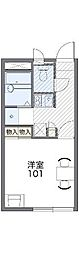 JR赤穂線 西大寺駅 徒歩30分の賃貸アパート 2階1Kの間取り