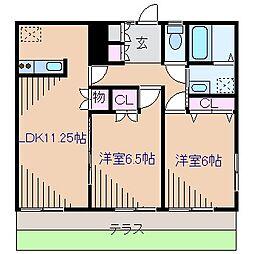 神奈川県横浜市港北区菊名5丁目の賃貸マンションの間取り