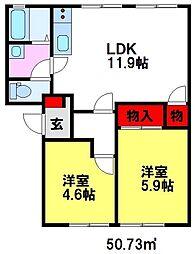 レシャルマントメゾン[1階]の間取り