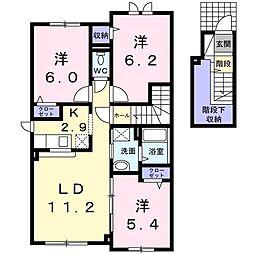 北海道札幌市北区篠路十条3丁目の賃貸アパートの間取り