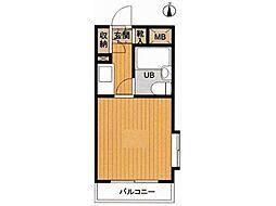 クリスタル高円寺パート1[4階]の間取り