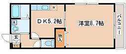 兵庫県神戸市長田区御屋敷通2丁目の賃貸アパートの間取り