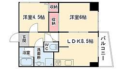 大阪府大阪市西成区玉出中2丁目の賃貸マンションの間取り