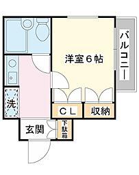 モンシャトー浦安[2階]の間取り