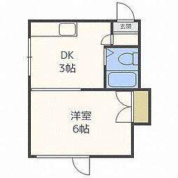 リバーサイドオガタ[5階]の間取り