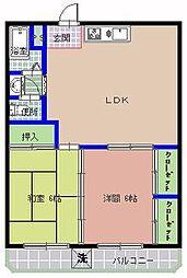 三の丸ブルーハイム[301号室]の間取り