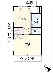 グレイスハウス三田[2階]の間取り