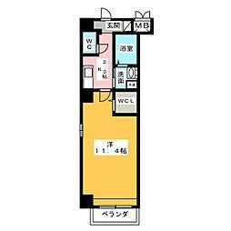 K Azur[7階]の間取り