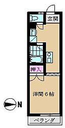 コーポ秀山[202号室]の間取り
