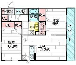 Friend Esakahigashi[3階]の間取り