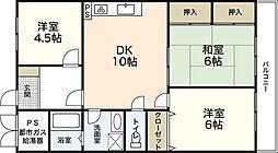 イワタ落合ビル[2階]の間取り