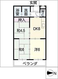 サンライズ浅野[3階]の間取り
