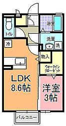 アリエーテAOKI[2階]の間取り
