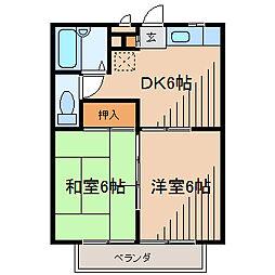 クレインSK[2階]の間取り