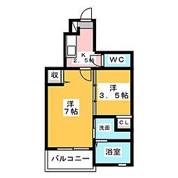 アンジュ Y.M[1階]の間取り