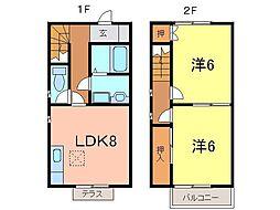 [テラスハウス] 愛知県刈谷市井ケ谷町井田2丁目 の賃貸【/】の間取り