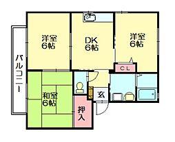 ドミール柚ノ木[2階]の間取り