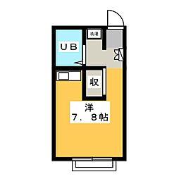 レオパレス鳥坂 B[1階]の間取り