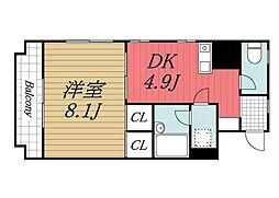 千葉県千葉市中央区松波3丁目の賃貸マンションの間取り