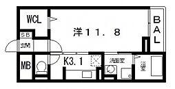 セレノアロッジオVII[103号室号室]の間取り
